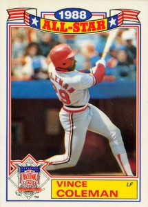 1989 Topps Glossy All-Stars Vince Coleman