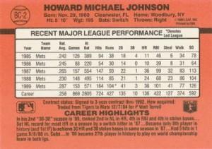 1990-Donruss-Howard-Johnson-Back