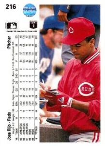 1990-Upper-Deck-Jose-Rijo-Back