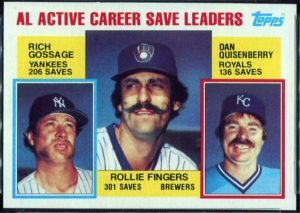 1984 Topps AL Active Career Saves Leaders (#718)