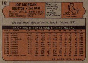 1972 Topps Joe Morgan (back)