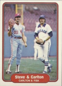 1982 Fleer Steve Carlton and Carlton Fisk