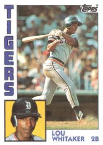 1984 Topps Lou Whitaker