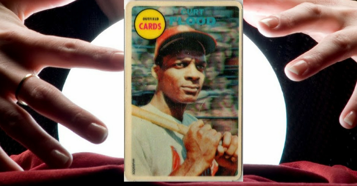 1968 Topps 3-D Curt Flood Was a Baseball and Hobby Crystal Ball