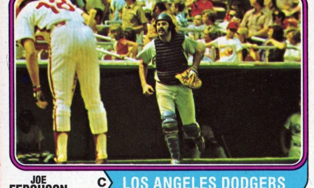 Which Player Made a Rear End of Himself of the 1974 Topps Joe Ferguson Baseball Card?