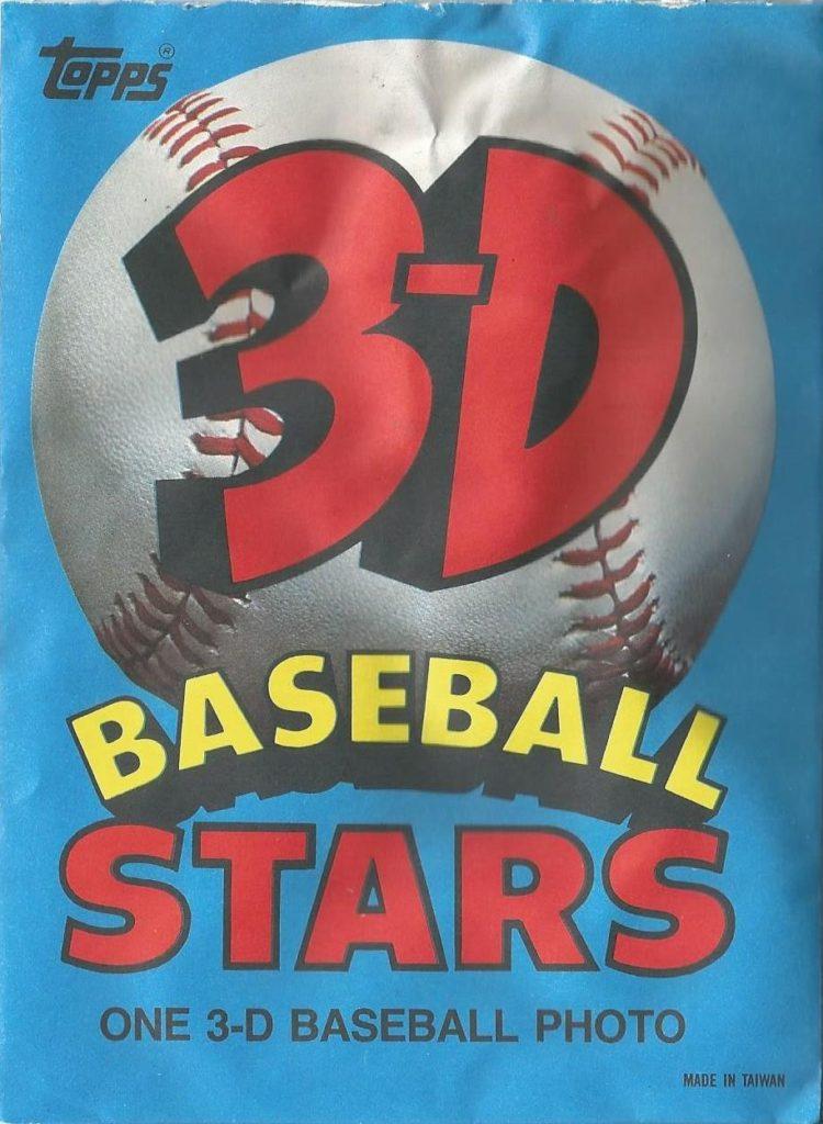 1985 Topps 3-D Baseball Stars Wrapper