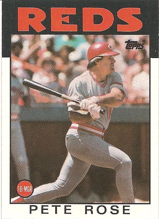 1986 Topps Pete Rose