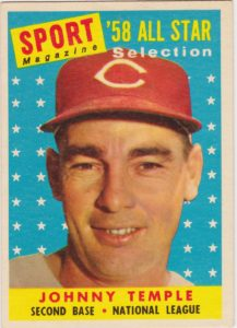 1958 Topps All-Star Johnny Temple