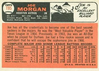 1966 Topps Joe Morgan (back)