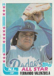 1982 Topps Fernando Valenzuela All-Star