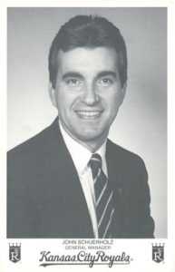 1983 Kansas City Royals Photocards John Schuerholz