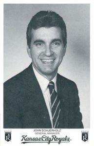 1985 Kansas City Royals Photocards John Schuerholz