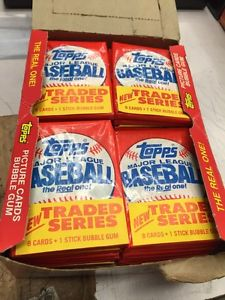 1985 Topps Traded Wax Box