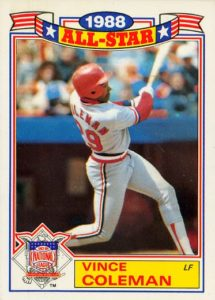 1989 Topps All-Star Glossies Vince Coleman