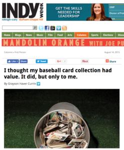 IndyWeek Baseball Cards