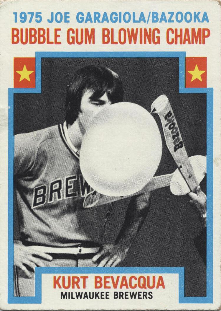1976 Topps Bubble Kurt Bevacqua