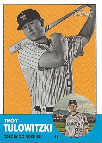 2012 Topps Heritage Troy Tulowitzki
