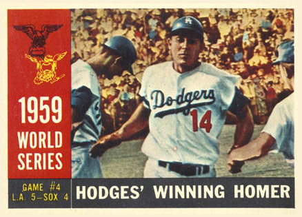 1960 topps hodges' winning homer