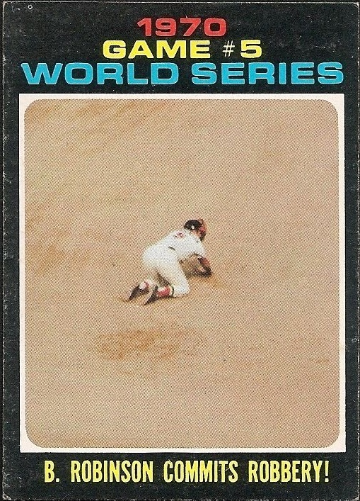 1971 topps b. robinson commits robbery