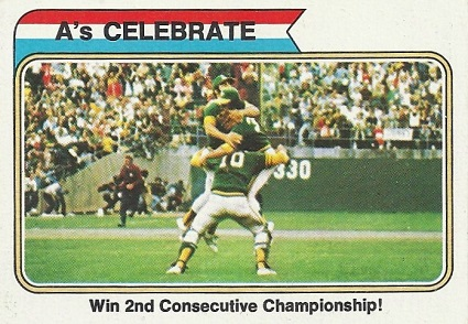 1974 topps as celebrate world series