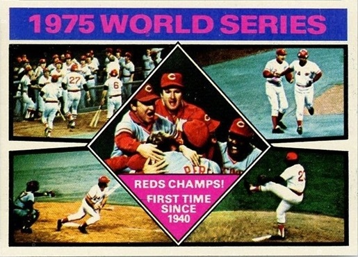 1976 Topps 1975 World Series