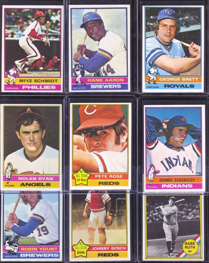 1976 Topps baseball cards complete set