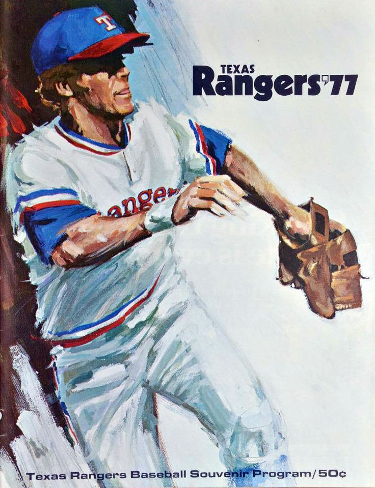 1977 Texas Rangers Scorecard