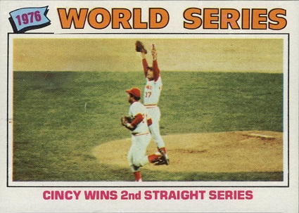 1977 topps world series cincy wins 2nd straight