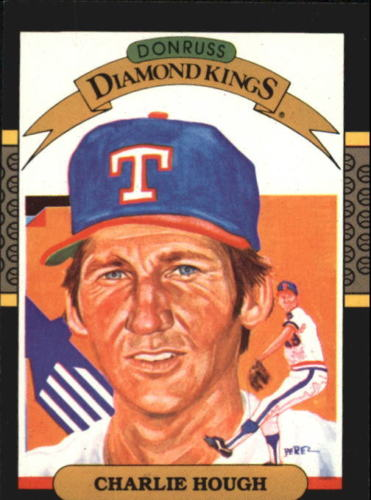 1987 Donruss Diamond King Charlie Hough