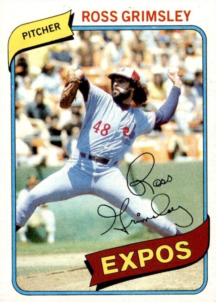 1980 Topps Ross Grimsley