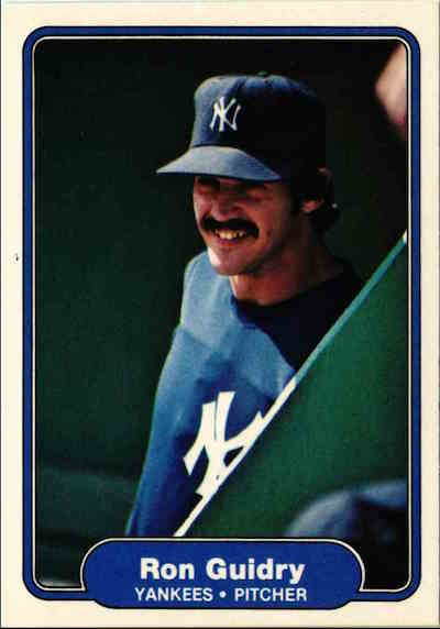 1982 Fleer Ron Guidry