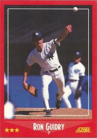 1988 Score Ron Guidry