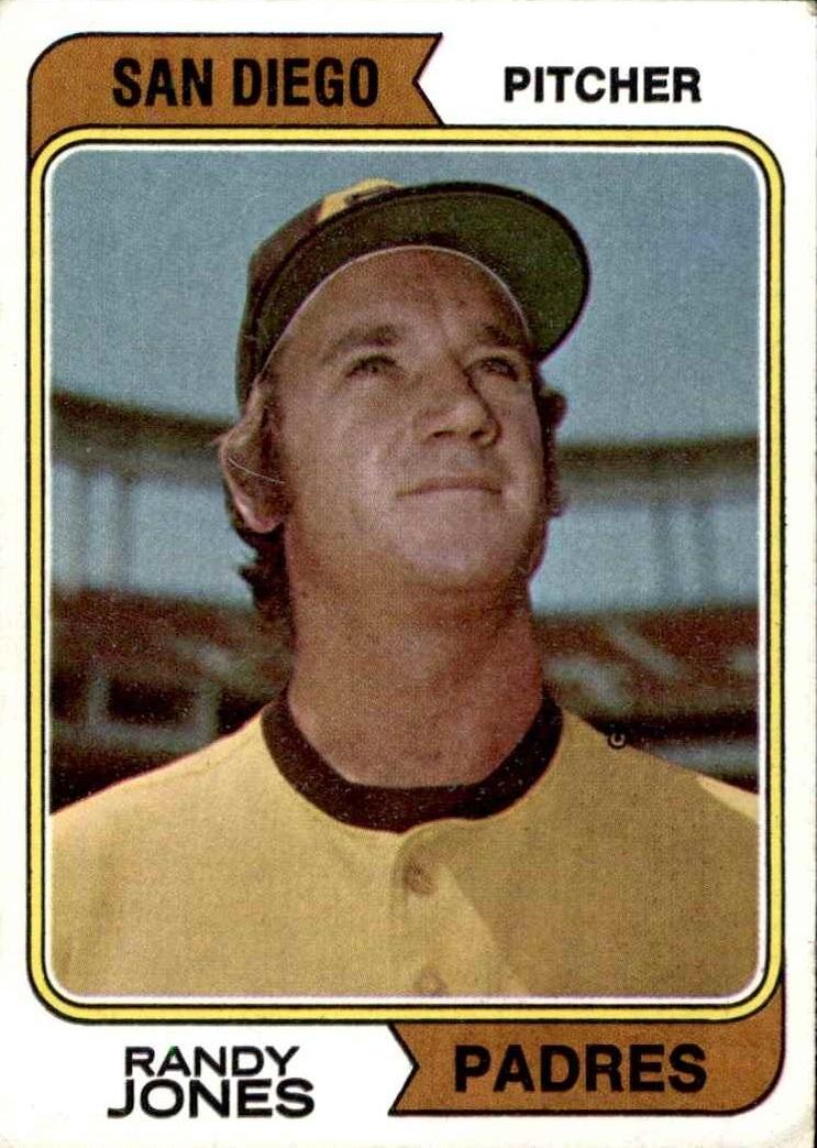 1974 Topps San Diego Padres Randy Jones