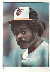 1982 Fleer Stickers Eddie Murray