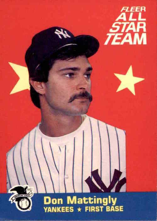 1986 Fleer All Star Team Don Mattingly Wax Pack Gods