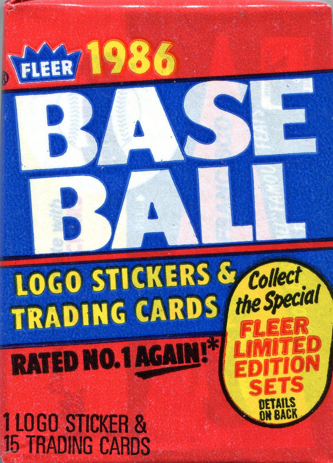 1986 Fleer Baseball Wax Pack