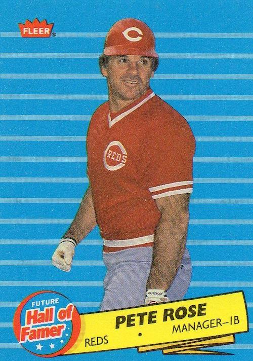 1986 Fleer Future Hall of Famer Pete Rose