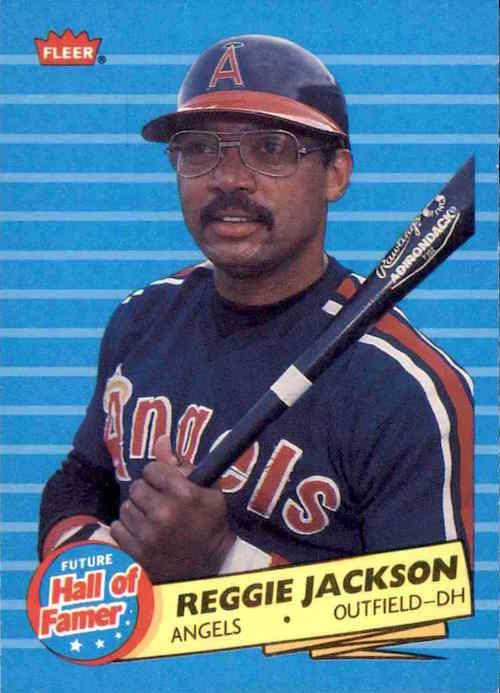 1986 Fleer Future Hall of Famer Reggie Jackson