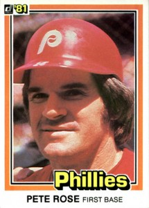 1981 Donruss Pete Rose (#371)