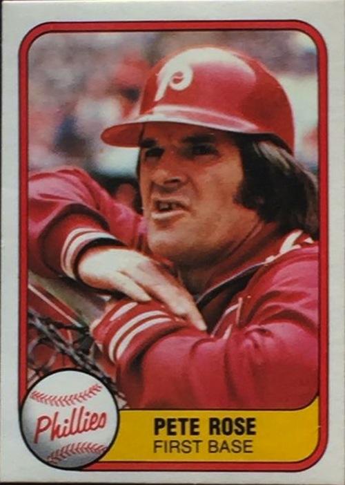 1981 Fleer Pete Rose (#1)