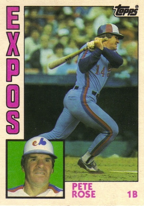 1984 Topps Traded Pete Rose (#103T)