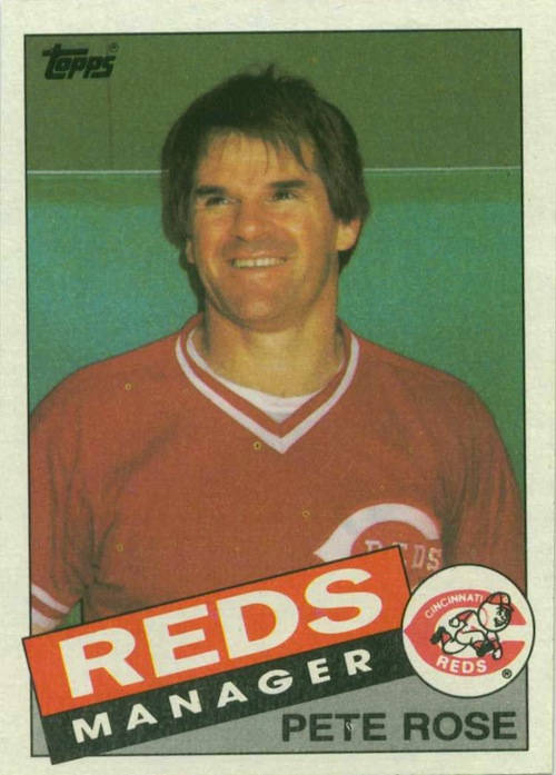 1985 Topps Pete Rose Manager (#547)