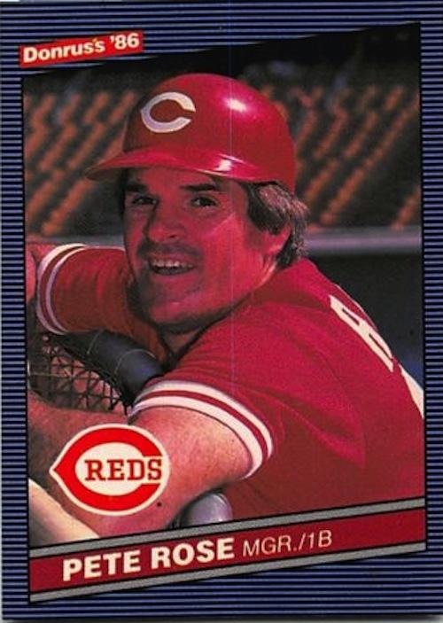 1986 Donruss Pete Rose (#62)