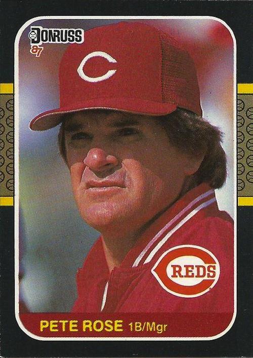 1987 D1987 Donruss Pete Rose (#186)onruss Pete Rose (#537)