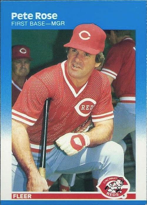 1987 Fleer Pete Rose (#213)