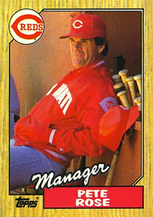 1987 Topps Pete Rose - Manager (#393)
