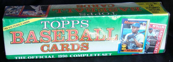 1990 Topps Baseball Christmas Factory Set Wax Pack Gods