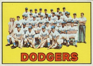 1967-Topps-Dodgers-Team