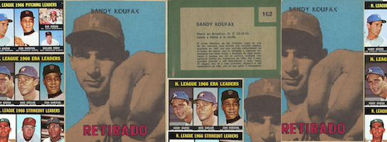 The Sandy Koufax Baseball Card that Never Was … Actually WAS