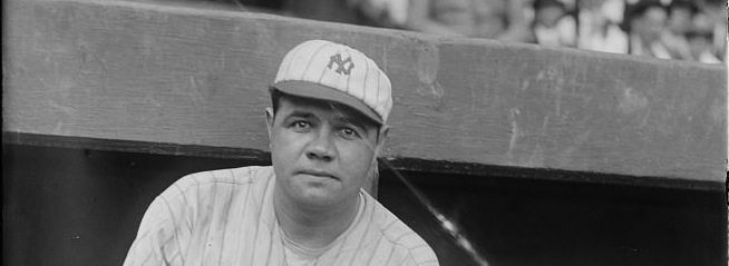 Which Was First Babe Ruth Baseball Card To Show Slugger With